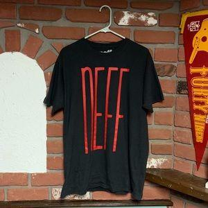 Neff Black/Red Graphic Logo T-Shirt Tee Sz Large
